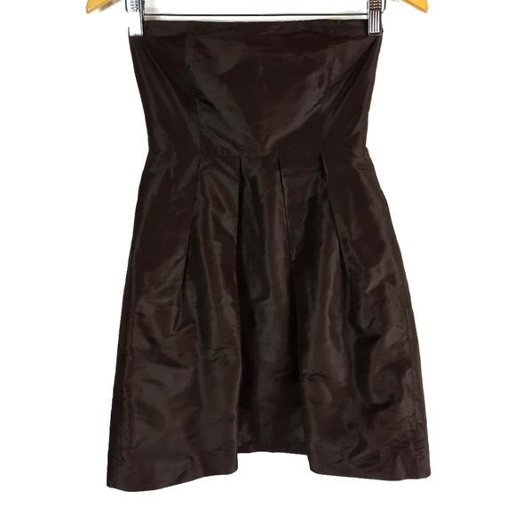 J. Crew Dresses & Skirts - J Crew Dark Brown Strapless Silk Dress